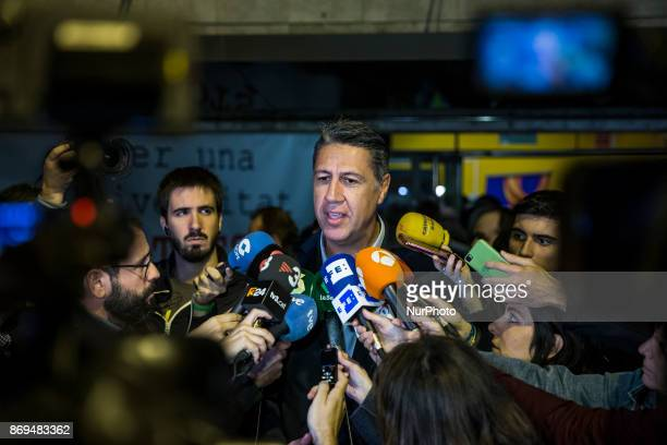 Xavier Garcia Albiol of Partido Popular of Catalonia during the meeting of Societat Civil Catalana the day about the judge order on Catalan leaders...