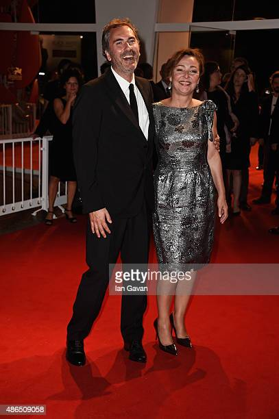 Xavier Giannoli and Catherine Frot attend a premiere for 'Marguerite' during the 72nd Venice Film Festival at on September 4 2015 in Venice Italy