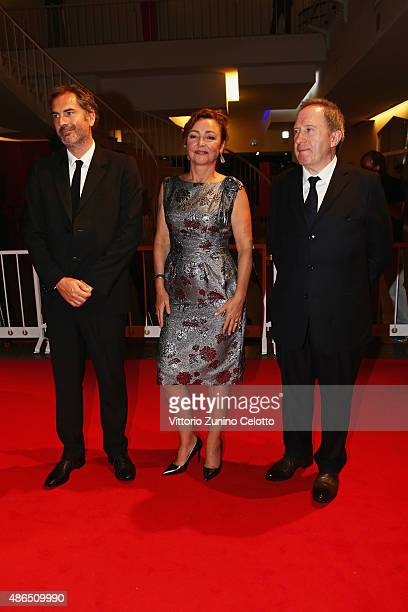 Xavier Giannoli Catherine Front and Andre Marcon attend a premiere for 'Marguerite' during the 72nd Venice Film Festival on September 4 2015 in...