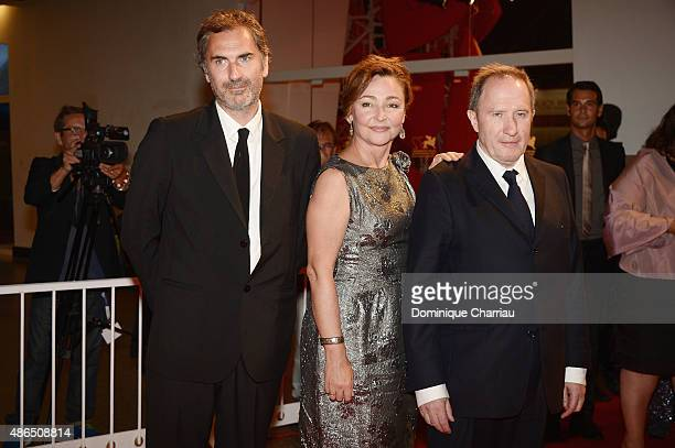 Xavier Giannoli Catherine Frot and Andre Marcon attend a premiere for 'Marguerite' during the 72nd Venice Film Festival on September 4 2015 in Venice...
