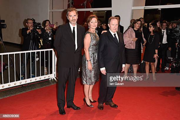 Xavier Giannoli Catherine Frot and Andre Marcon attend a premiere for 'Marguerite' during the 72nd Venice Film Festival at on September 4 2015 in...
