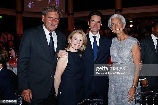 Xavier Giocanti Versailles castle President Catherine Pegard Jean Pascal Tranie and FMI Chief Executive Officer Christine Lagarde and Xavier Giocanti...