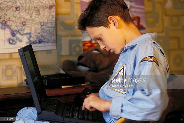 Xavier Gouin Europe's Youngest Pilot 11 years old In Lognes France On July 17 1993