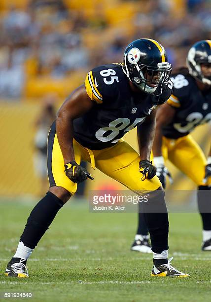 Xavier Grimble of the Pittsburgh Steelers in action during the game against the Philadelphia Eagles on August 18, 2016 at Heinz Field in Pittsburgh,...