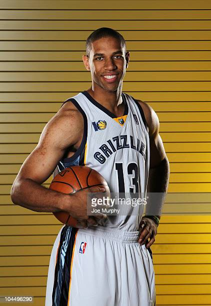 Xavier Henry of the Memphis Grizzlies poses for a portrait during NBA Media Day on September 27 2010 at the FedExForum in Memphis Tennessee NOTE TO...