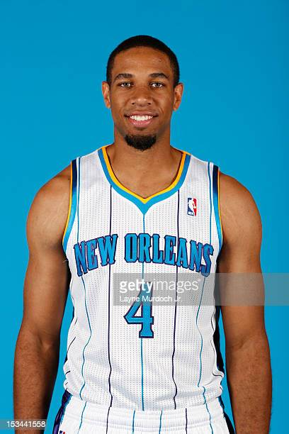 Xavier Henry of the New Orleans Hornets poses for a portrait for 2012 NBA Media Day on October 1 2012 at the Alerio Center in Westwego Louisiana NOTE...