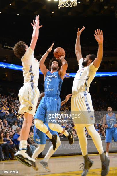 Xavier Henry of the Oklahoma City Blue shoots the ball against the Santa Cruz Warriors on February 12 2017 at Oracle Arena in Oakland California NOTE...