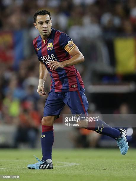 Xavier Hernandez Creus Xavi of FC Barcelona during the Joan Gamper Trophy match between FC Barcelona and Leon FC at Camp Nou on august 18 2014 in...