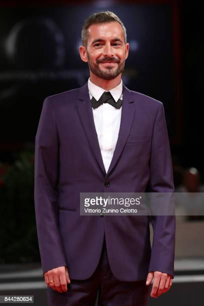 Xavier Legrand walks the red carpet ahead of the 'Jusqu'a La Garde' screening during the 74th Venice Film Festival at Sala Grande on September 8 2017...