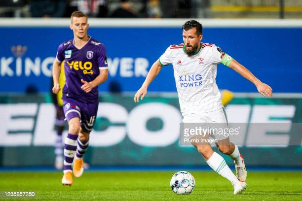 Xavier Mercier of OH Leuven during the Jupiler Pro League match between OH Leuven and K Beerschot VA at the King Power at Den Dreef Stadion on...