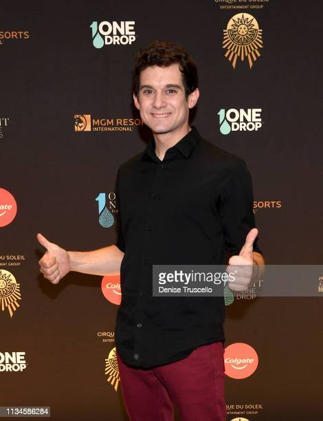 Xavier Mortimer attends One Night for One Drop Imagined by Cirque du Soleil and brought to you by Colgate at Hyde Bellagio at the Bellagio on March...