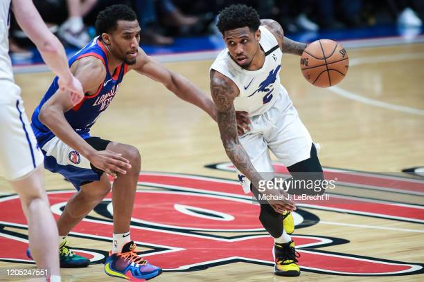Xavier Munford of the Delaware Blue Coats drives the ball against the Long Island Nets during an NBA G-League game on March 4, 2020 at Nassau...