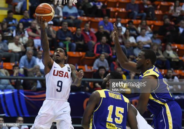 Xavier Munford of United States drives to basket during the FIBA Americup semi final match between US and Virgin Islands at Orfeo Superdomo arena on...