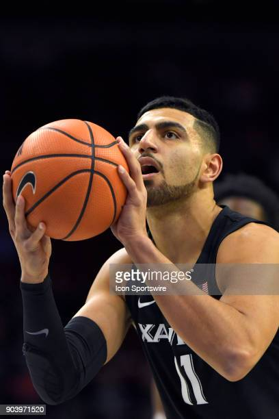 Xavier Musketeers forward Kerem Kanter at the free throw line during the basketball game between the Xavier Musketeers and the Villanova Wildcats on...