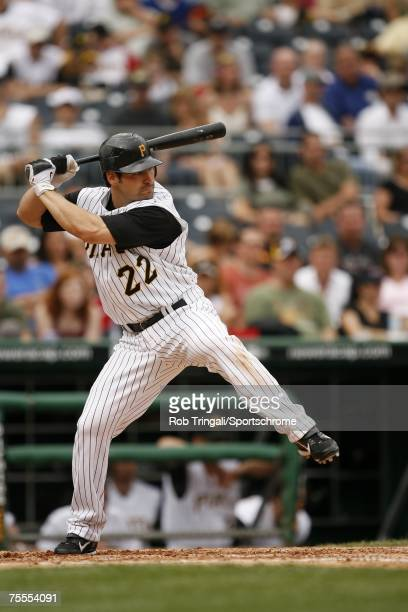Xavier Nady of the Pittsburgh Pirates bats against the Los Angeles Dodgers on June 3, 2007 at PNC Park in Pittsburgh, Pennsylvania. The Dodgers...