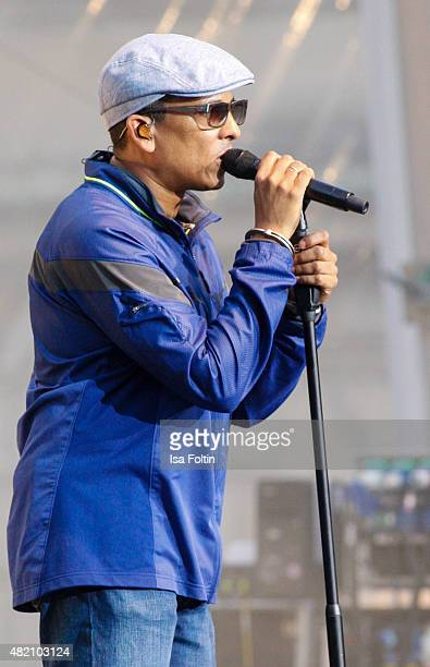 Xavier Naidoo performs at his concert during the Thurn Taxis Castle Festival 2015 on July 25 2015 in Regensburg Germany