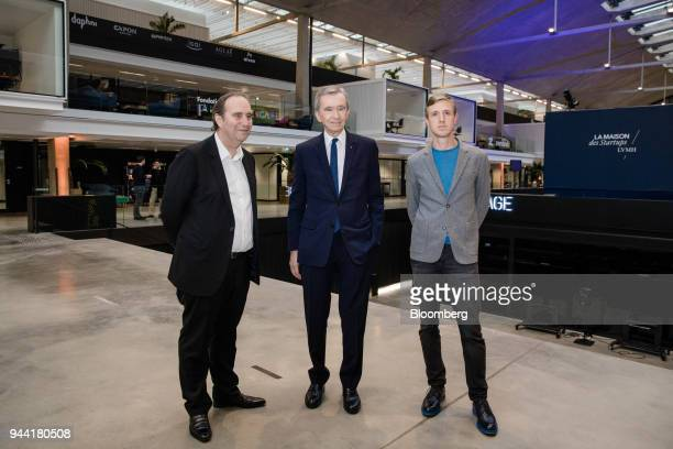 Xavier Niel billionaire and deputy chairman of Iliad SA left Bernard Arnault billionaire and chief executive officer of LVMH Moet Hennessy Louis...