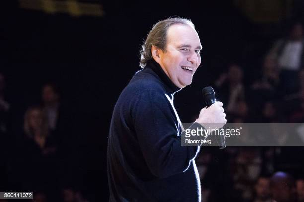 Xavier Niel billionaire and vice chairman of Iliad SA reacts during the BPI France forum in Paris France on Thursday Oct 12 2017 Even as Catalonia...