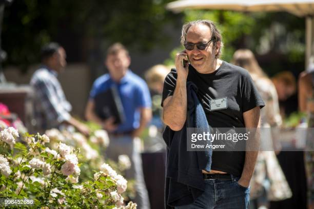 Xavier Niel founder of French telecommunication group Iliad SA attends the annual Allen Company Sun Valley Conference July 11 2018 in Sun Valley...
