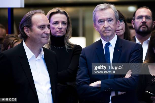 Xavier Niel , founder of station F and CEO of Illiad, Delphine Arnault , Deputy Chief Executive Officer of Louis Vuitton, and Bernard Arnault , CEO...