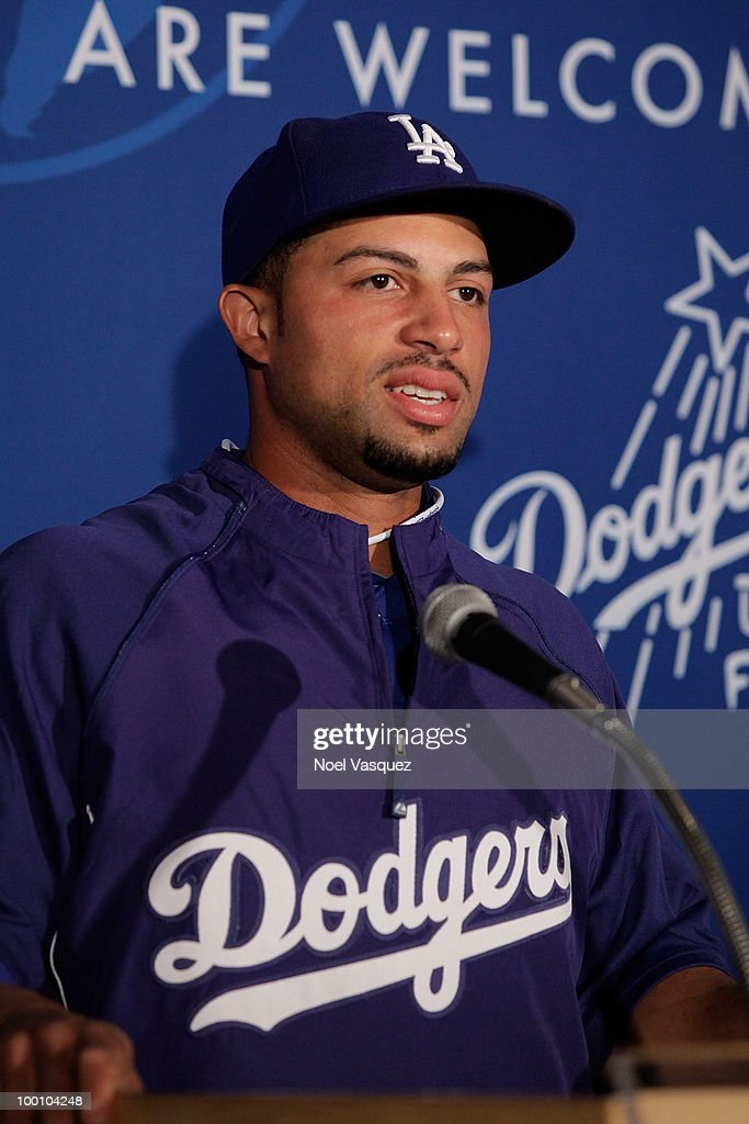 Xavier Paul speaks at the Los Angeles Dodger's news conference announcing partnership with Taiwan Tourism Board on May 20, 2010 in Los Angeles, California.