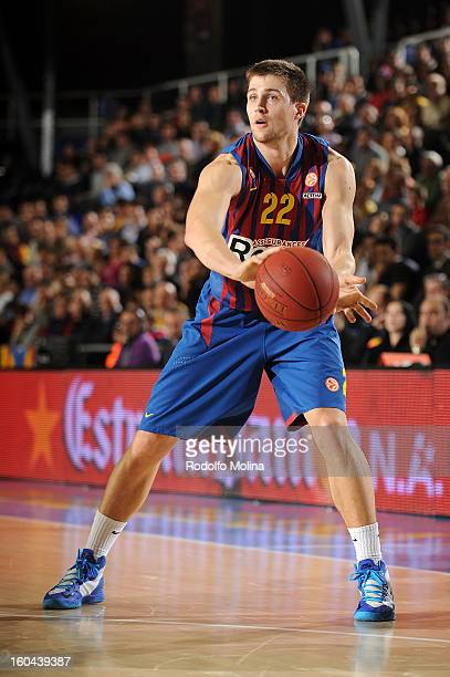 Xavier Rabaseda #22 of FC Barcelona Regal in action during the 20122013 Turkish Airlines Euroleague Top 16 Date 6 between FC Barcelona Regal v...