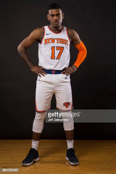 Xavier RathanMayes of the New York Knicks is photographed at New York Knicks Media Day on September 25 2017 in Greenburgh New York