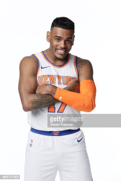 Xavier RathanMayes of the New York Knicks poses for a portrait during Media Day on September 25 2017 at the Knicks Practice Center in Tarrytown New...