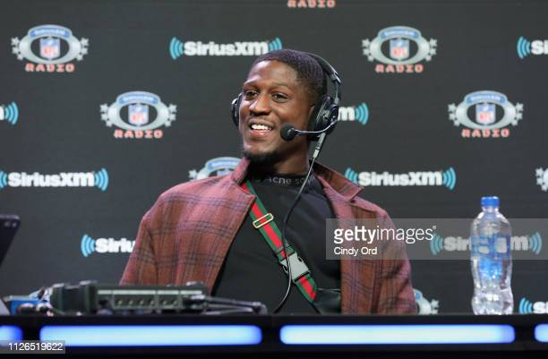 Xavier Rhodes attends SiriusXM at Super Bowl LIII Radio Row on January 31 2019 in Atlanta Georgia