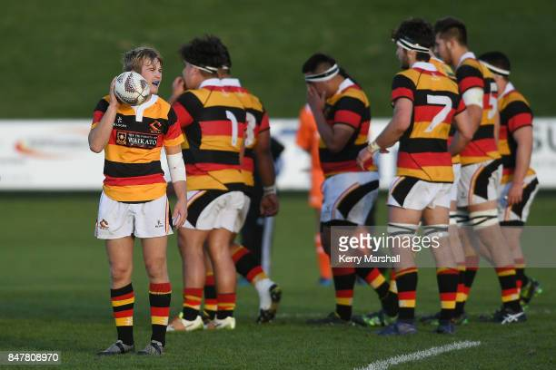 Xavier Roe of Waikato during the Jock Hobbs Memorial Tournament match between Waikato and Auckland on September 16 2017 in Taupo New Zealand