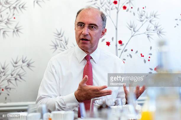 Xavier Rolet chief executive officer of London Stock Exchange Group Plc gestures as he speaks during an interview in London UK on Thursday Sept 29...