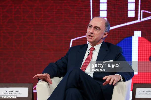 Xavier Rolet chief executive officer of London Stock Exchange Group Plc speaks at the QatarUK Business and Investment Forum in London UK on Monday...