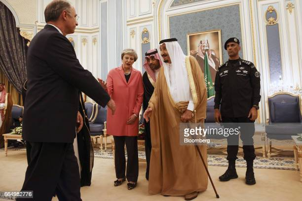 Xavier Rolet chief executive officer of London Stock Exchange Group Plc left attends a meeting between UK Prime Minister Theresa May and Saudi...