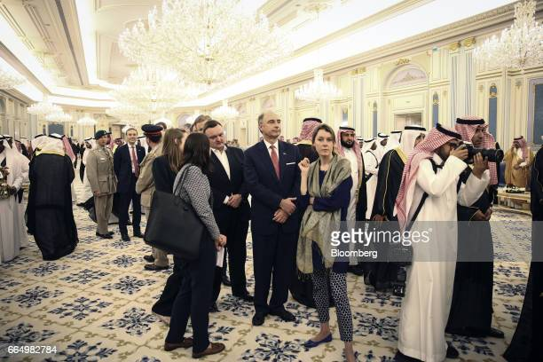 Xavier Rolet chief executive officer of London Stock Exchange Group Plc attends a meeting between UK Prime Minister Theresa and Saudi Arabia's King...