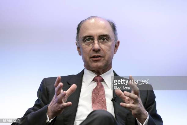 Xavier Rolet chief executive officer of London Stock Exchange Group Plc gestures as he speaks during the International Fintech Conference in London...