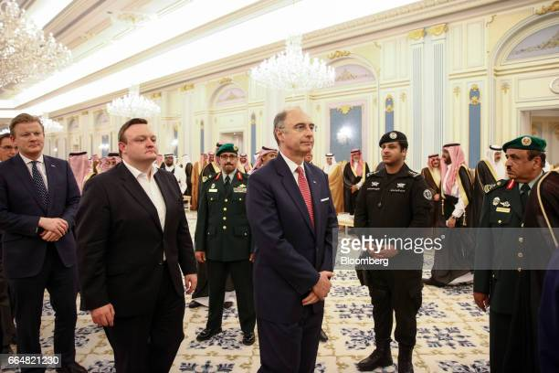 Xavier Rolet chief executive officer of London Stock Exchange Grp Plc attends a meeting between UK Prime Minister Theresa and Saudi Arabia's King...