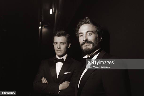 Xavier Samuel and Ryan Corr pose backstage during the 7th AACTA Awards Presented by Foxtel at The Star on December 6 2017 in Sydney Australia