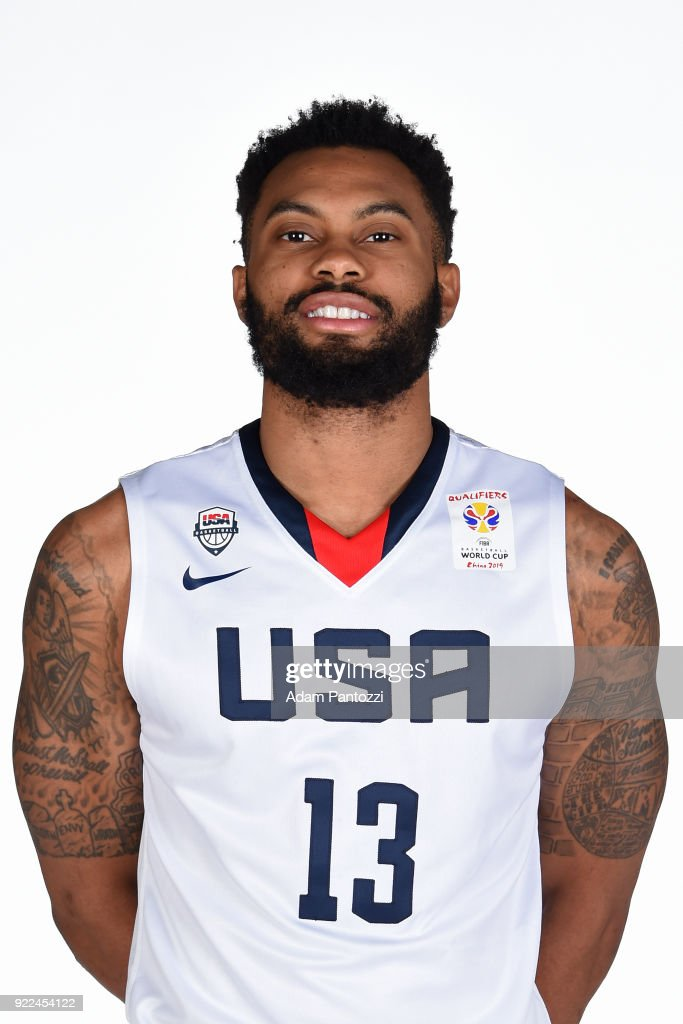 Xavier Silas #13 of Team USA poses for a head shot on February 20, 2018 at the LA Clippers Training Center in Playa Vista, California.