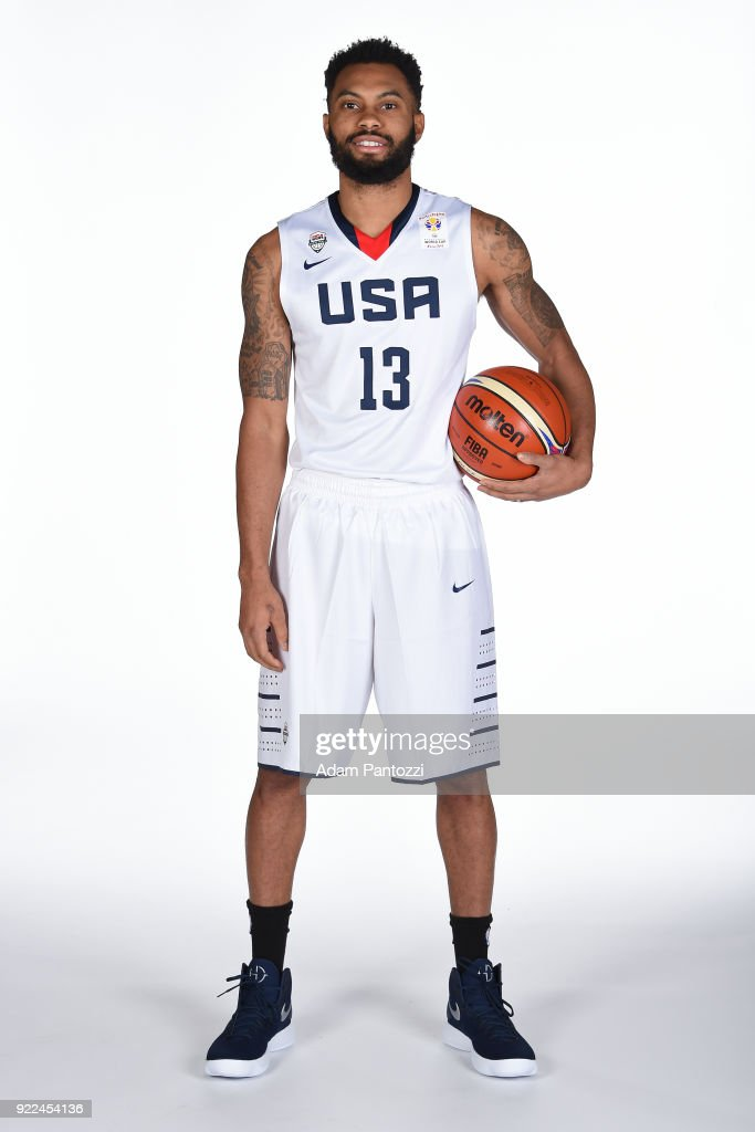 Xavier Silas #13 of Team USA poses for a portrait on February 20, 2018 at the LA Clippers Training Center in Playa Vista, California.