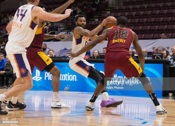 Xavier Silas of the Northern Arizona Suns looks to pass the ball against the Canton Charge during the NBA GLeague Showcase on January 12 2018 at the...
