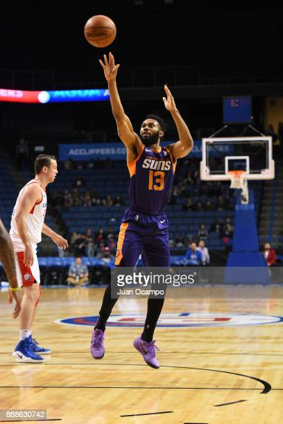 Xavier Silas of the Northern Arizona Suns shoots the ball against the Agua Caliente Clippers on December 8 2017 at Citizens Business Bank Arena in...