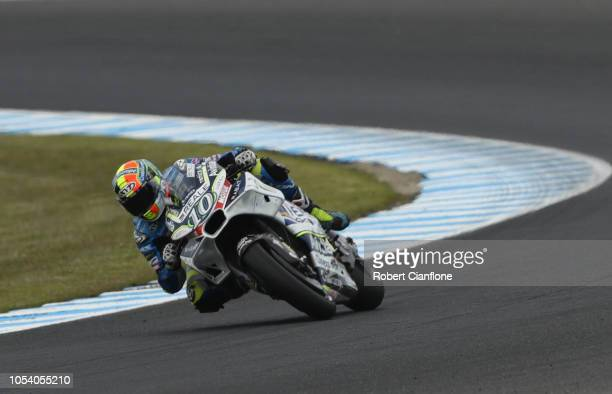 Xavier Simeon of Belgium and Reale Avintia Racing during practice for the 2018 MotoGP of Australia at Phillip Island Grand Prix Circuit on October 27...