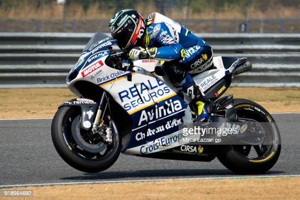 Xavier Simeon of Belgium and Reale Avintia Racing heads down a straight during the MotoGP Tests In Thailand on February 16 2018 in Buri Ram Thailand