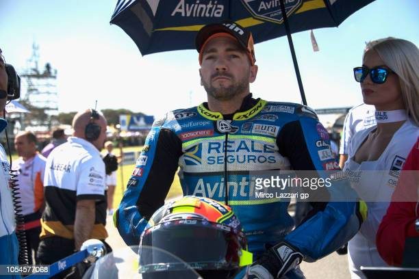 Xavier Simeon of Belgium and Reale Avintia Racing prepares to start on the grid during the MotoGP race during the MotoGP of Australia Race during the...