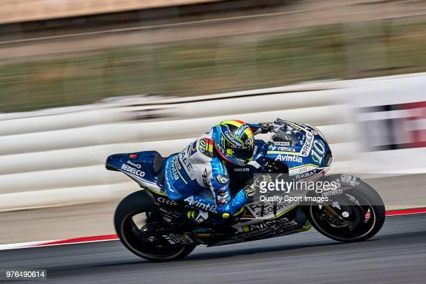 Xavier Simeon of Belgium and Reale Avintia Racing rides during free practice for the MotoGP of Catalunya at Circuit de Catalunya on at Circuit de...
