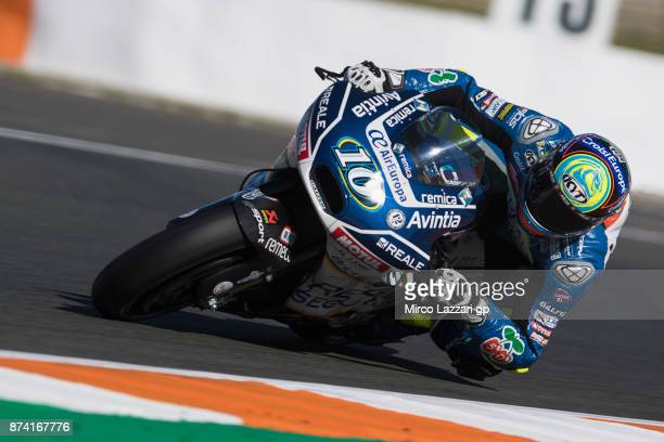 Xavier Simeon of Belgium and Reale Avintia Racing rounds the bend during the MotoGP Tests In Valencia day 1 at Comunitat Valenciana Ricardo Tormo...