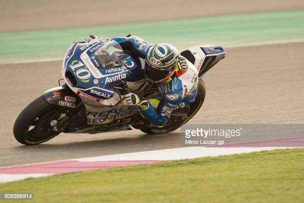 Xavier Simeon of Belgium and Reale Avintia Racing rounds the bend during the Moto GP Testing Qatar at Losail Circuit on March 2 2018 in Doha Qatar