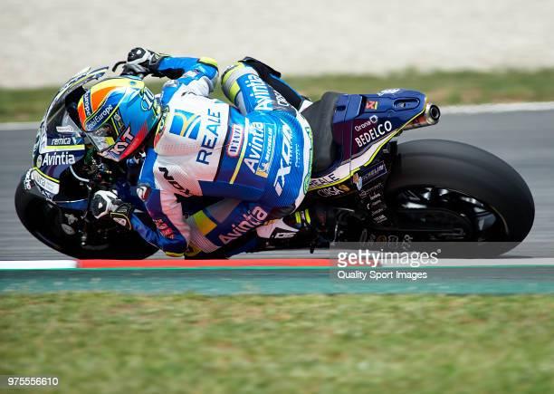 Xavier Simeon of Belgium and Reale Avintia Racing rounds the bend during free practice for the MotoGP of Catalunya at Circuit de Catalunya on June 15...