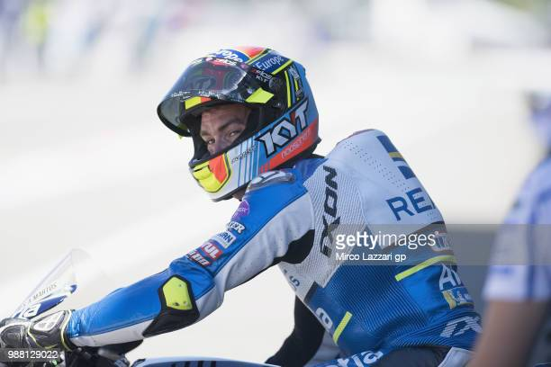 Xavier Simeon of Belgium and Reale Avintia Racing starts from box during the Qualifying practice during the MotoGP Netherlands Qualifying on June 30...
