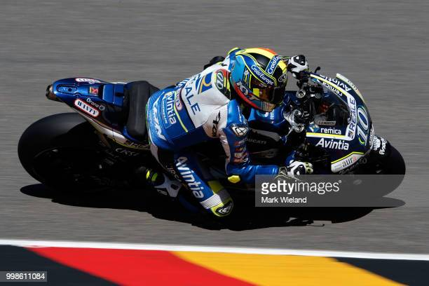 Xavier Simeon of Belgium and Reale Avintia Racing Team rides in qualifying during the MotoGP of Germany at Sachsenring Circuit on July 14 2018 in...
